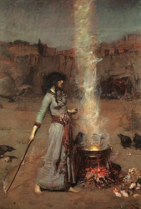 Häxa kastar en Cirkel av John William Waterhouse