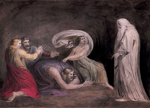 Johan Heinrich Füssli or John Henri Fuseli (1741-1825)-'Samuel appearing to Saul in the presence of the witch of Endor'